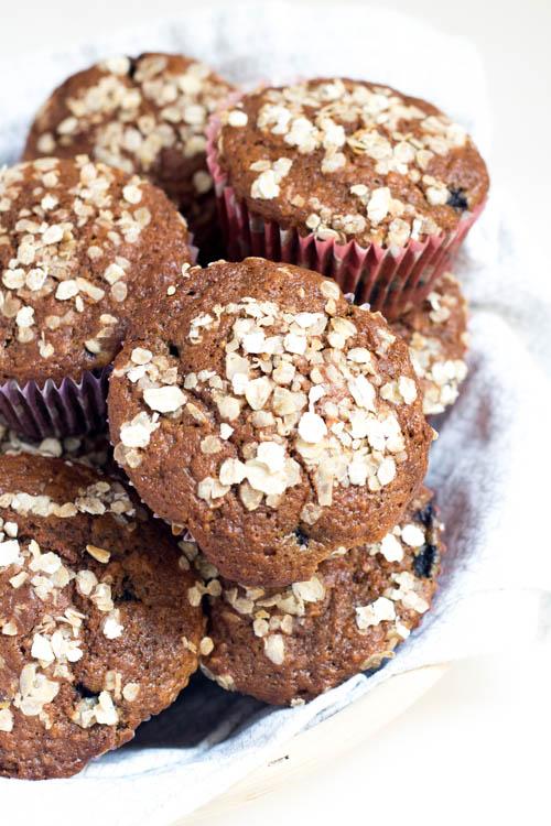 Rezept Haferflocken-Heidelbeer-Muffins