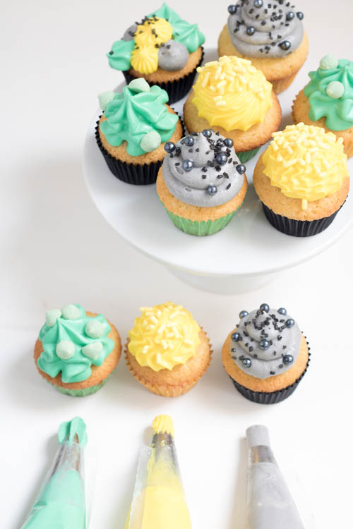 Rezept Bunte Mini Cupcakes