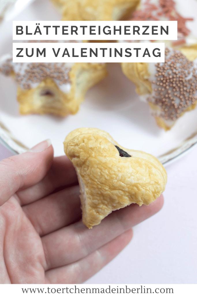 Rezept Valentinstag Blätterteigherzen Schokolade