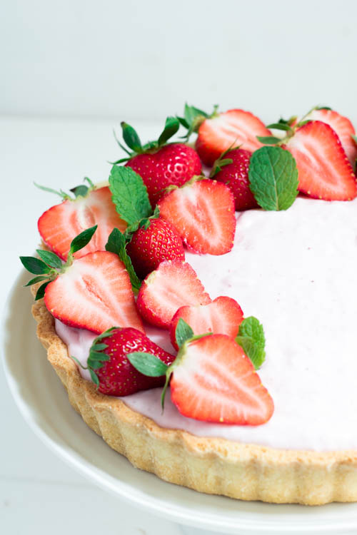 Rezept Mürbeteig Tarte mit Quark und Erdbeeren