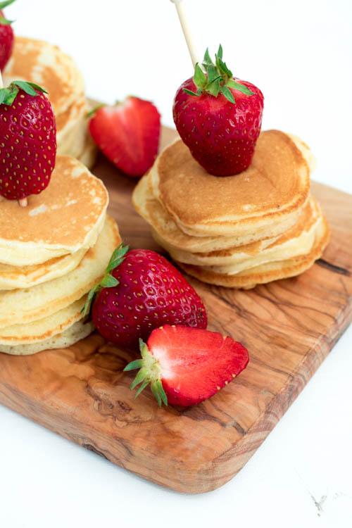 Pancake Spieße Frühstück Brunch Idee