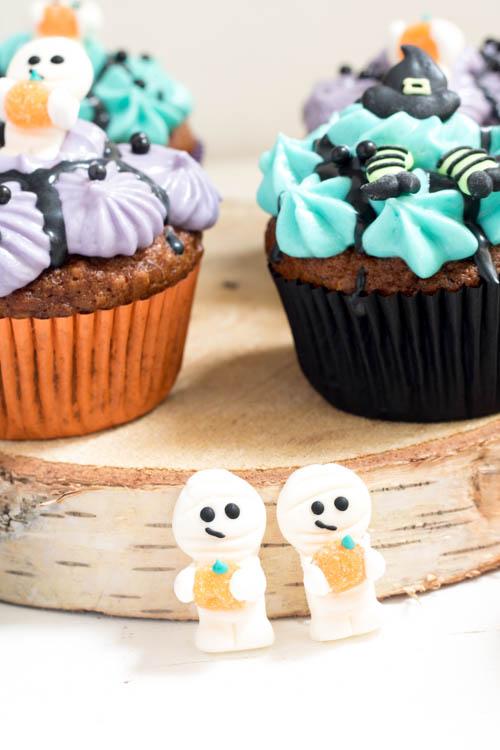 Rezept Halloween Bananen Haferflocken Cupcakes