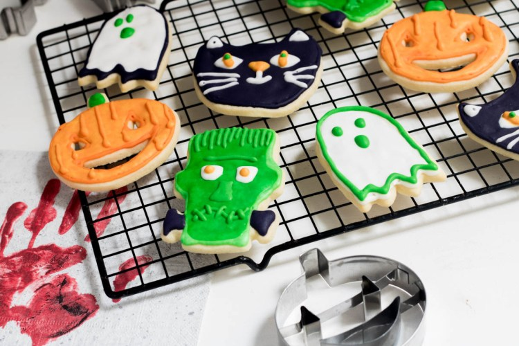 Rezept Halloween Kekse Royal Icing