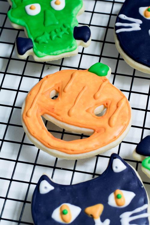Rezept Halloween Kekse Royal Icing