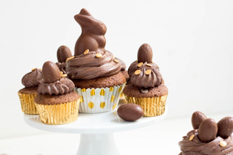 Rezept Ostern Schoko Cupcakes