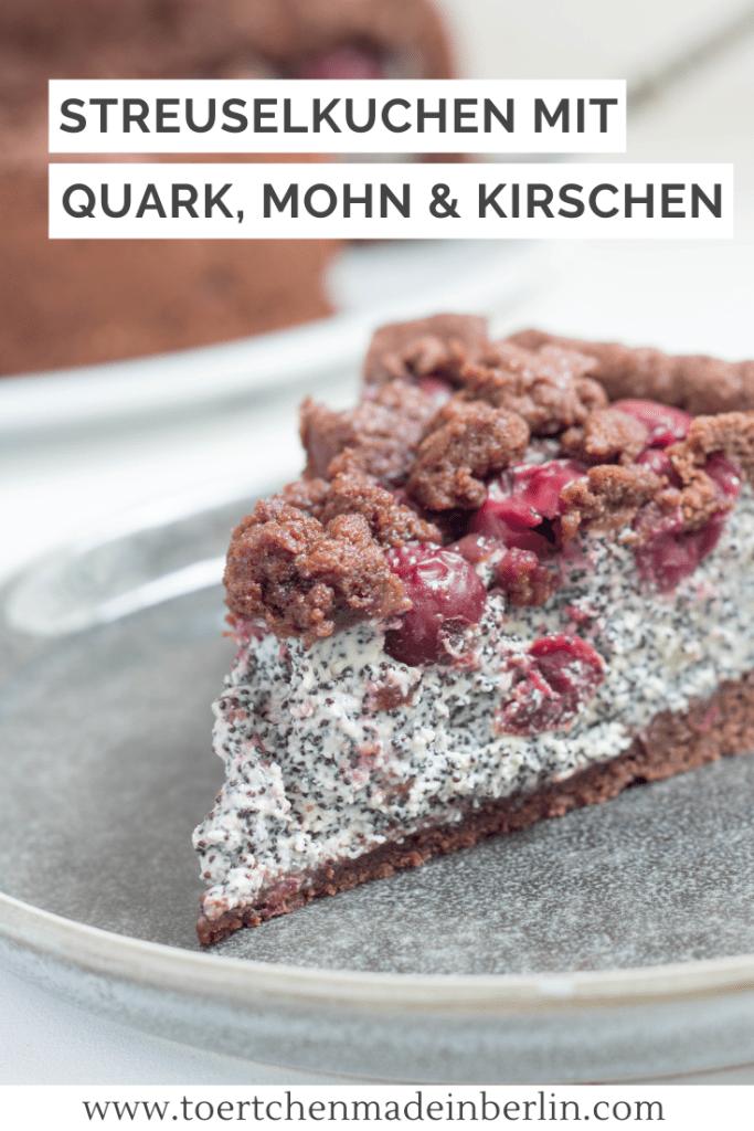 Rezept Schoko Mohn Kirsch Streuselkuchen