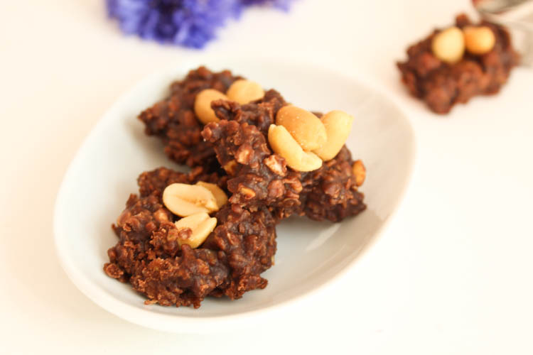 No Bake Cookies Schoko Erdnuss