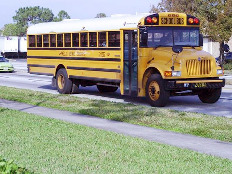 school bus - give thanks