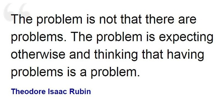 Problem with problems quote