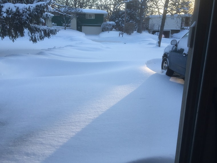 driveway with snow - discern God's will
