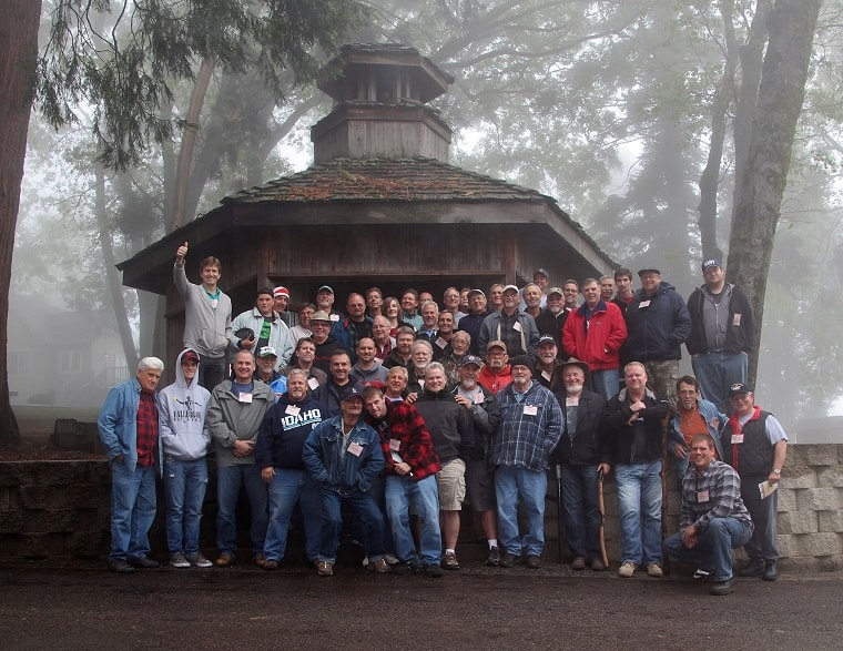 Riverview Mens Retreat on the mountaintop