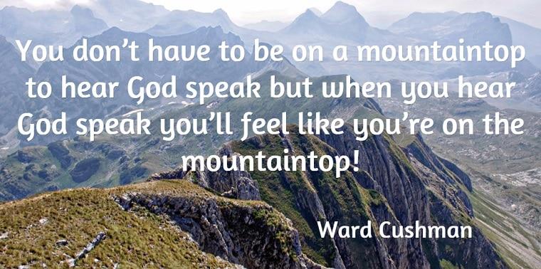 When God speaks mountaintop