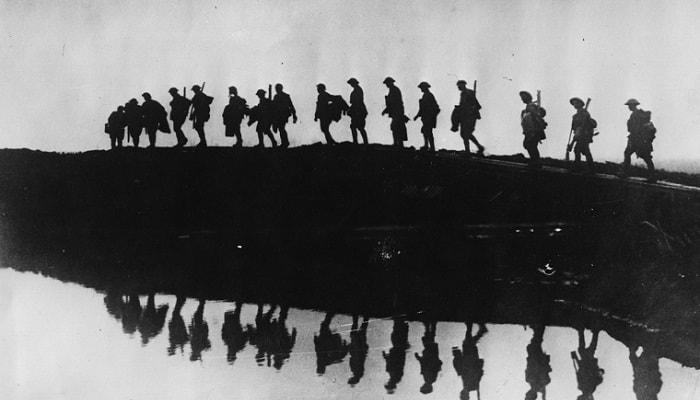 World War I soldiers - In the spiritual war God frees Satan's followers