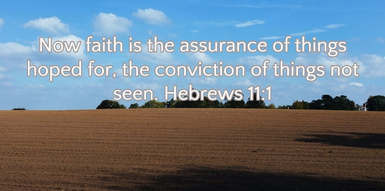 Hebrews 11:1 Biblical faith