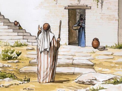 Zechariah home with Elizabeth