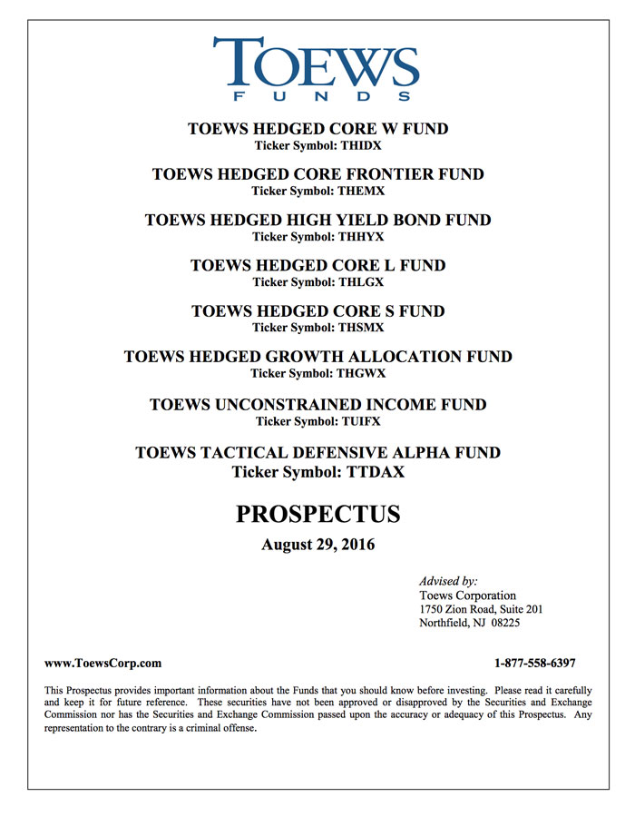 Mutual Funds Toews Corporation