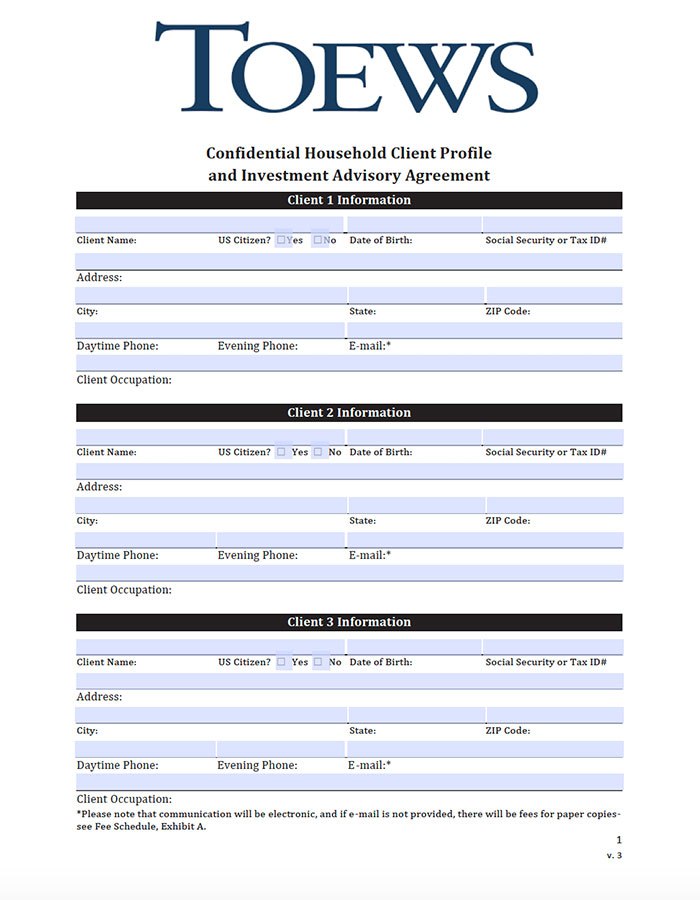 Applications Forms Toews Corporation