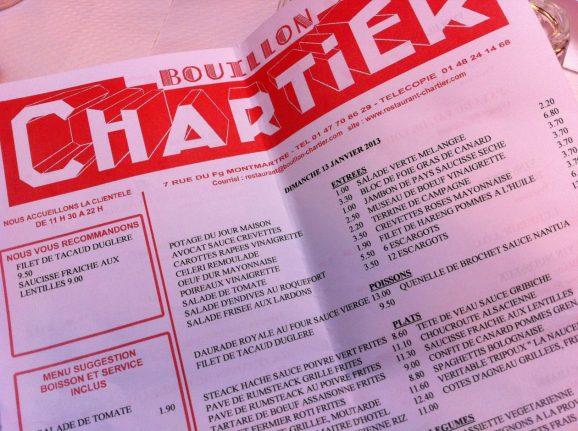 chartier-menu