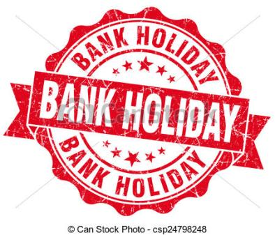 bank holiday red vintage isolated seal
