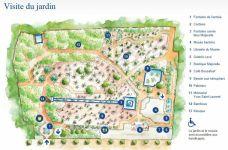 Plan des Jardins Majorelle Marrakech