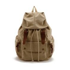 khaki-waterproof-canvas-rucksack-army-green-school-backpack