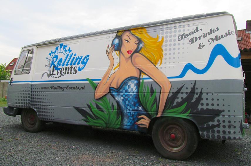 Graffiti Rolling Events peugeot