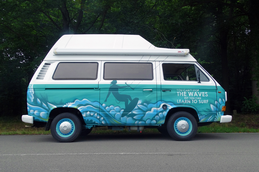 Volkswagenbusje graffiti 1