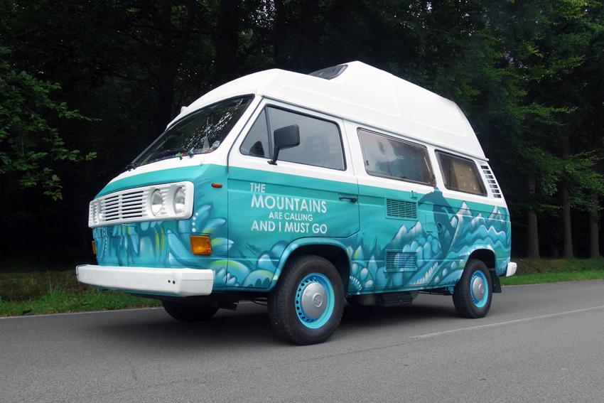 Volkswagenbusje graffiti 6