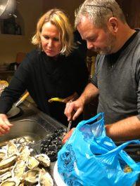 verse oesters van de markt