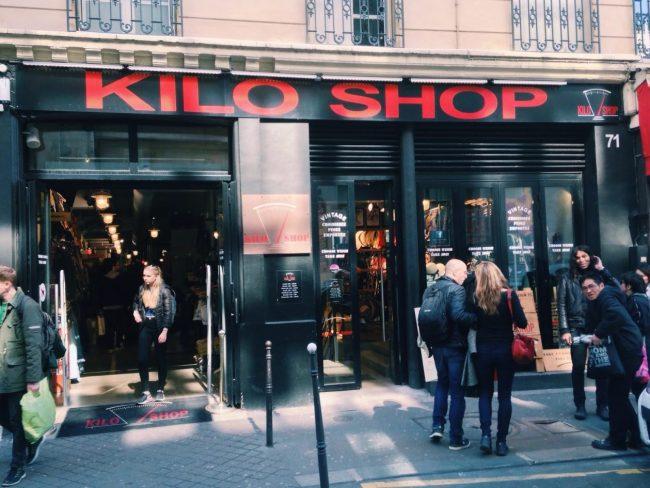 Kilo shop vintage clothes Paris le Marais