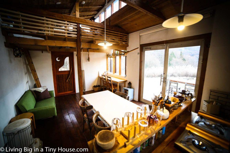 Japan-Off-Grid-Cabin-Kitchen-Dining