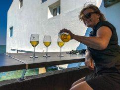 witte wijn van het eiland