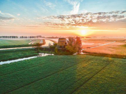 De Halve molen aan de Oudelandsdijk