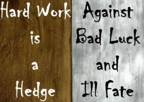 Hard work is a hedge