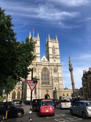 Vi råkade passera Westminster Abbey.
