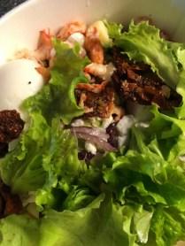 Middagssalladen kompletterades med... sallad.