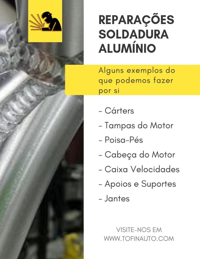 Reparações Soldadura Alumínio