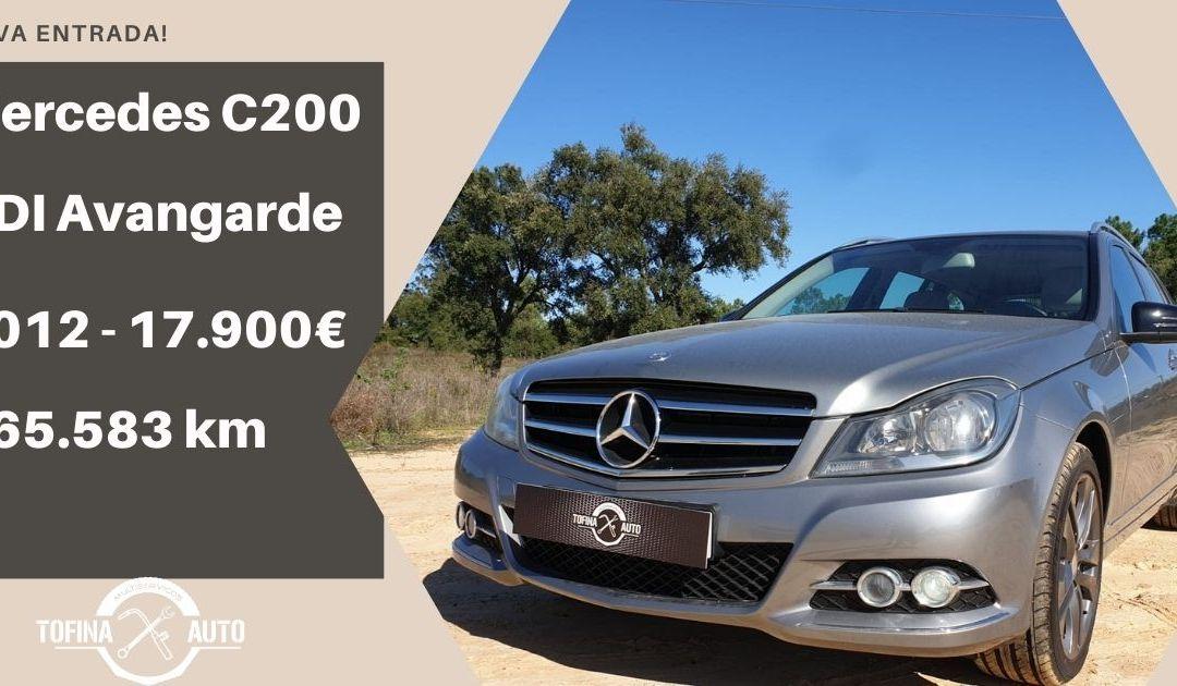 Mercedes C200 CDI Avangarde 2012