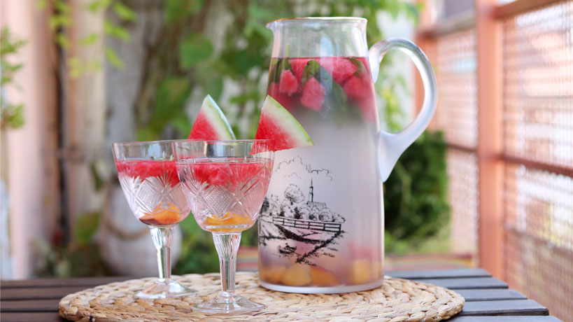 Watermelon-Nectarine Infused Water | Tofobo Family