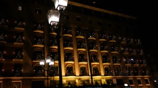 Naples Hotel at night