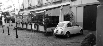 Above: Typical B&W photo of Italy involving a vintage Fiat.