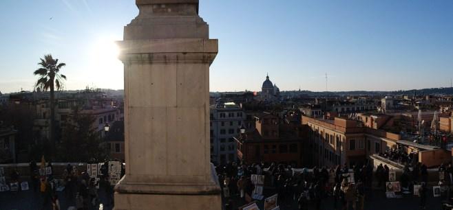 View from the glorious Chiesa della Trinità dei Monti at the top of the staircase.
