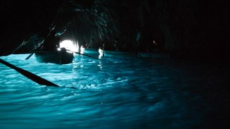 The cool but over-priced Blue Grotto.