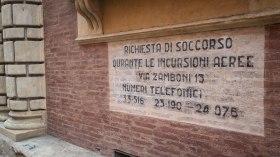 Old wartime signage, still preserved.