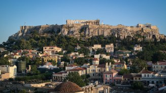 Admiring the Acropolis from A for Athens
