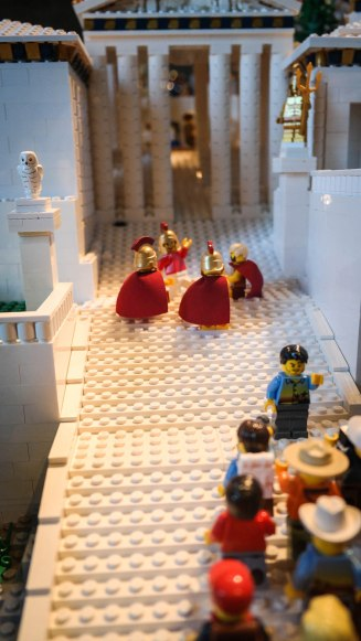 An extremely detailed Lego depiction of the Acropolis