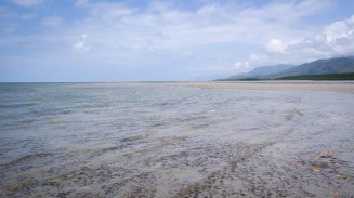 Panorama of Four Mile Beach port douglas at low tide