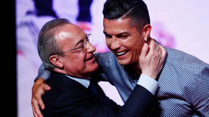 real madrid florentino perez discute deja avec cristiano ronaldo de son retour