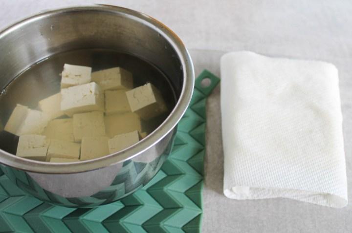 tofu draining