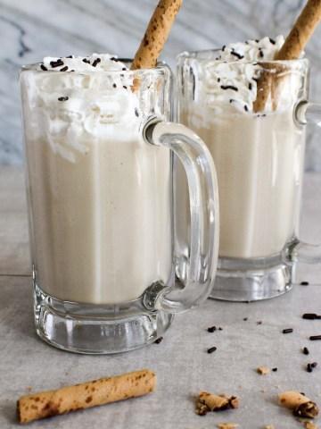 two mugs of milkshakes